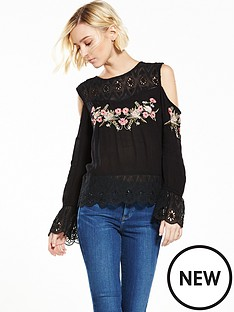 river-island-black-embriodered-top
