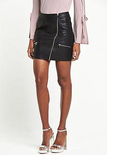 river-island-leather-look-zip-mini-skirt-black
