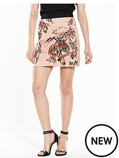 river-island-embroidered-tiger-skirt