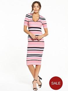 lost-ink-stripe-ribbed-dress