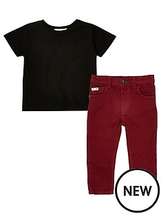 river-island-mini-boys-black-t-shirt-and-red-trousers-set