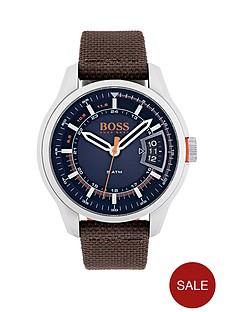 hugo-boss-hugo-boss-orange-hong-kong-sport-blue-dial-brown-fabric-strap-mens-watch