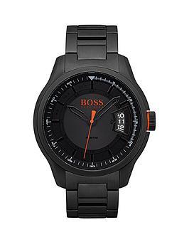hugo-orange-hong-kong-sport-blue-dial-black-ip-bracelet-mens-watch