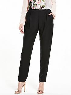 wallis-satin-back-tapered-trouser