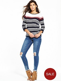 wallis-nautical-stripe-swing-jumper
