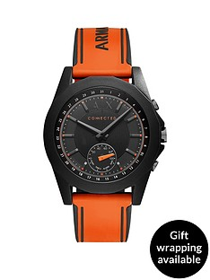 armani-exchange-connected-black-dial-orange-silicone-smart-watch
