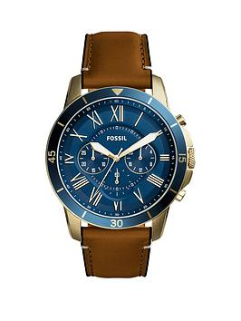 fossil-fossil-grant-sport-blue-multi-dial-tan-leather-strap-mens-watch