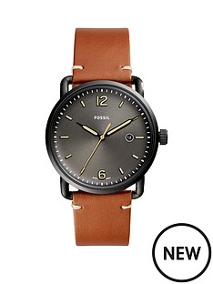 fossil-fossil-communter-black-dial-tan-leather-strap-ladies-watch