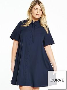 fashion-union-curve-curve-bow-tie-shirt-dress-navy