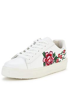 v-by-very-flower-embroidered-trainer-white