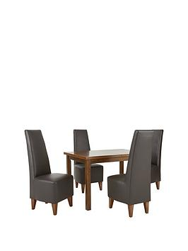 evelyn-120-150-cm-solid-wood-extending-dining-table-4-manhattan-chairs