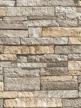 superfresco-easy-ledgestone-grey-and-terracotta-wallpaper