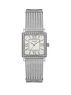guess-highlinenbspladies-silver-mesh-bracelet-watch-with-crystal-detailing