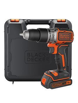 black-decker-bl188k-gb-18-voltnbspbrushless-lithium-ion-combi-hammer-drill