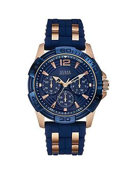 guess-oasis-guess-mens-blue-textured-silicone-strap-watch