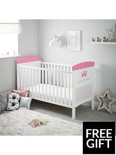 obaby-free-foam-mattressgrace-inspire-little-princess-cot-bed-amp-foam-mattress