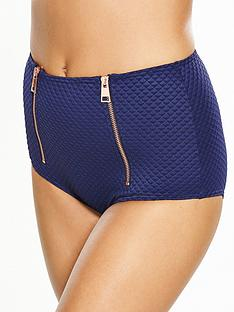 v-by-very-zip-detail-textured-high-waist-bikini-brief
