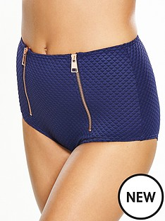 v-by-very-zip-detail-textured-high-waist-bikini-brief
