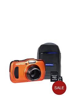 praktica-luxmedia-wp240-wtprf-orange-camera-kit-inc-8gb-microsd-card-amp-case