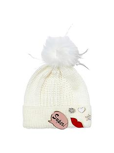 river-island-girls-badge-beanie