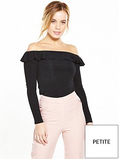 v-by-very-petite-petite-long-sleeve-rib-bardot-top