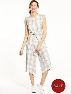 native-youth-tie-waist-gingham-culotte-jumpsuit