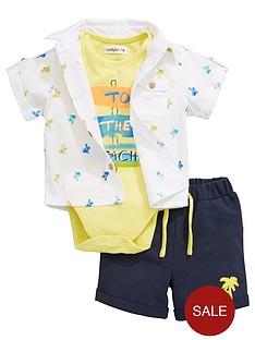 ladybird-baby-boys-3pc-shirt-bodysuit-and-short-set