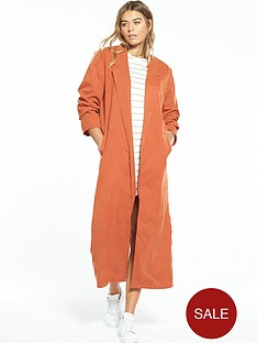 native-youth-lightweight-longline-jacket-rust