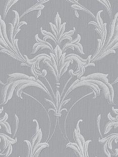 Graham Brown Oxford Silver And Grey Wallpaper