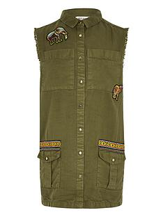 river-island-girls-khaki-embroidered-sleeveless-shaket