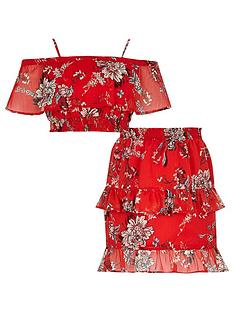 river-island-girls-red-floral-print-bandeau-top-outfit