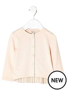 river-island-mini-mini-girls-knit-pleated-back-cardigan