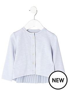 river-island-mini-mini-girls-blue-knit-pleated-back-cardigan