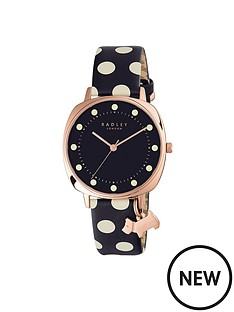 radley-radley-blue-dial-dog-charm-polka-dot-leather-strap-ladies-watch