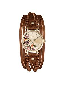 kahuna-kahuna-tan-beaded-multi-strap-ladies-watch
