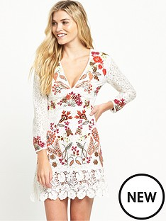 french-connection-legere-lace-dress-ivory