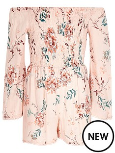 river-island-girls-pink-floral-print-shirred-playsuit