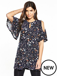 v-by-very-cold-shoulder-tunic-floral-print