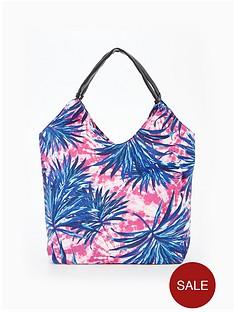 v-by-very-palm-print-slouch-beach-bag