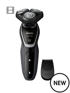 philips-series-5000-wet-amp-dry-mens-electric-shavernbsps521006-with-precision-trimmer