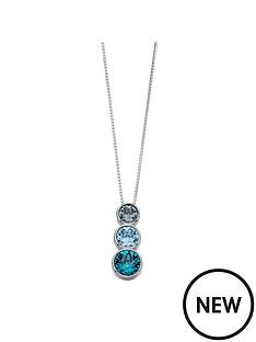 elements-silver-sterling-silver-swarovski-blue-tone-triple-stone-pendant