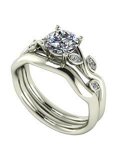 moissanite-9ct-gold-105ctnbsptotal-round-brilliant-centre-vine-bridal-set