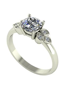 moissanite-9ct-gold-107ctnbspeqnbspleaf-cluster-solitaire-ring