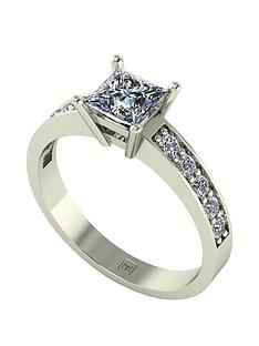 moissanite-moissanite-premier-collection-9ct-gold-105ct-total-princess-cut-moissanite-solitaire-ring