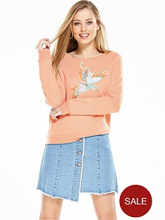 noisy-may-fly-sweat-top-coral