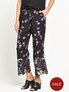 french-connection-lace-hem-crop-trouser