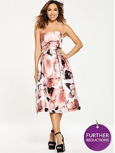 myleene-klass-floral-bandeau-prom-dress