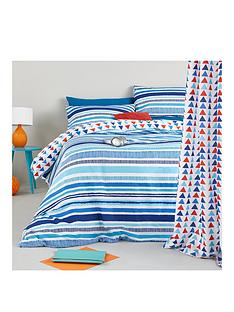 pixel-stripe-double-fitted-sheet-twin-pack