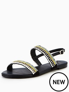 v-by-very-brianna-embellished-flat-sandal-black