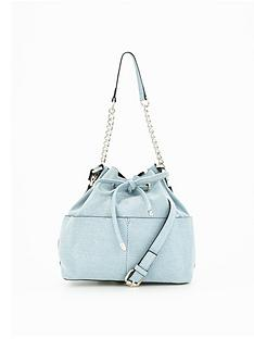miss-selfridge-denim-bucket-bag